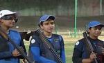 आईएसएसएफ विश्व कप में भारतीय महिला ट्रैप टीम ने रजत पर साधा निशाना